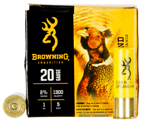"Browning Ammo B193512025 BXD Upland 20 Gauge 2.75"" 1 oz 5 Shot 25 Bx/ 10 Cs"