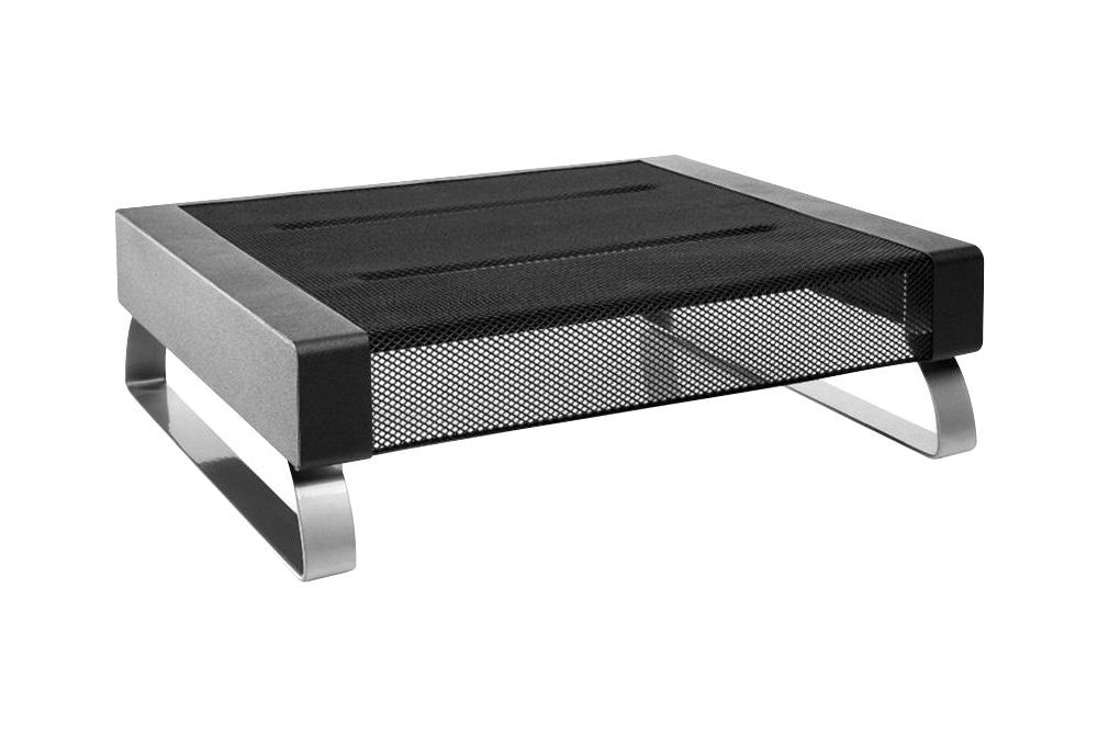 Dymo Small Monitor Stand - Up to 35lb Small Monitor - Black, Silver - Floor-mountable