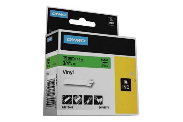 "LABEL, DYMO RHINO, GREEN, 3/4"","