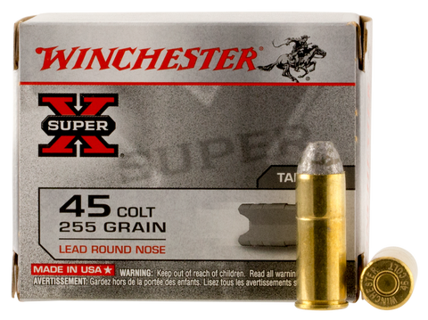 Winchester Ammo X45CP2 Special Buy Super-X 45 Colt (LC) 255 GR Lead Round Nose 20 Bx/ 10 Cs