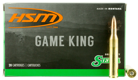 HSM 25061N Game King 25-06 Remington 100 GR SBT 20 Bx/ 20 Cs