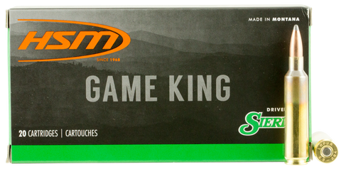 HSM 65X284NORMA3 Game King 6.5X284mm Norma 140 GR SBT 20 Bx/ 25 Cs