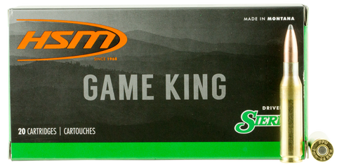 HSM 7MM087N Game King 7mm-08 Remington 140 GR SBT 20 Bx/ 25 Cs