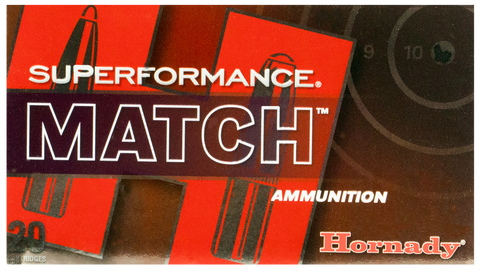 Hornady 80963 Superformance Match 308 Win/7.62 NATO 168 GR ELD-Match 20 Bx/ 10 Cs