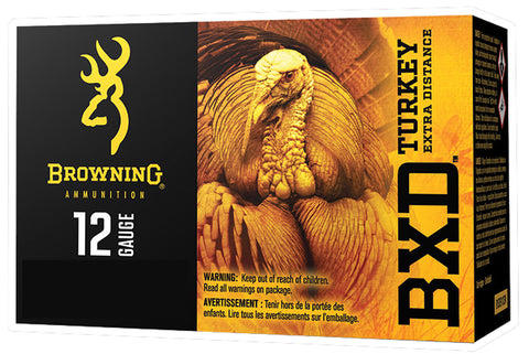 "Browning Ammo B193911244 BXD Turkey 12 Gauge 3.5"" 1 7/8 oz 4 Shot 10 Bx/ 10 Cs"