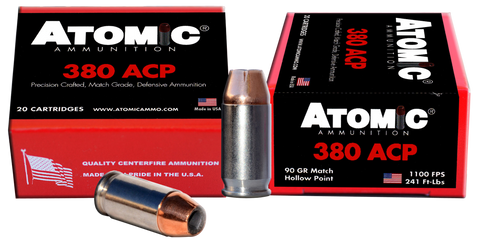 Atomic 00453 Defense 380 ACP 90 GR HP 20 Bx/ 10 Cs