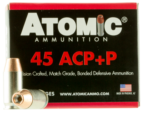 Atomic 00458 Defense 45 ACP +P 185 GR Bonded MHP 20 Bx/ 10 Cs