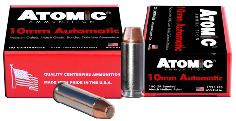 Atomic 00457 Defense 10mm Automatic 180 GR Bonded MHP 20 Bx/ 10 Cs