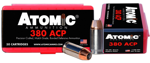 Atomic 00414 Defense 380 ACP 90 GR HPoint 50 Bx/ 10 Cs