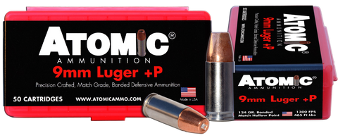 Atomic 00409 Defense 9mm Luger 124 GR Bonded MHP 50 Bx/ 10 Cs