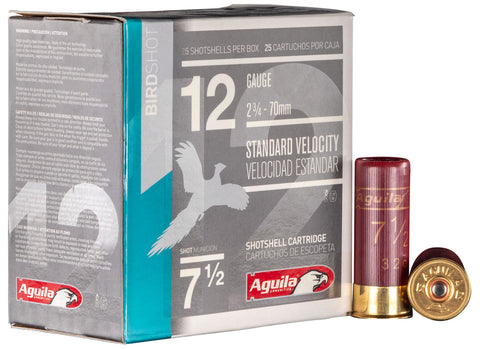 "Aguila 1CHB1217 Field  12 Gauge 2.75"" 1 1/8 oz 7.5 Shot 25 Bx/ 10 Cs"