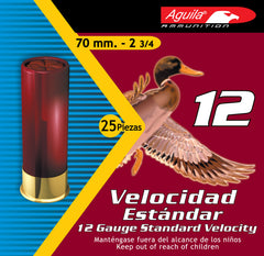 "Aguila 1CHB1218 Field  12 Gauge 2.75"" 1 1/8 oz 8 Shot 25 Bx/ 10 Cs"