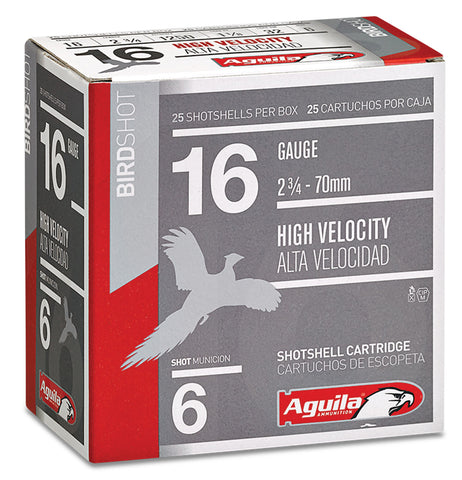 "Aguila 1CHB1606 Field  16 Gauge 2.75"" 1 1/8 oz 6 Shot 25 Bx/ 10 Cs"