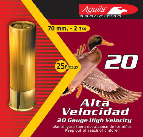 "Aguila 1CHB2006 Field  20 Gauge 2.75"" 1 oz 6 Shot 25 Bx/ 10 Cs"