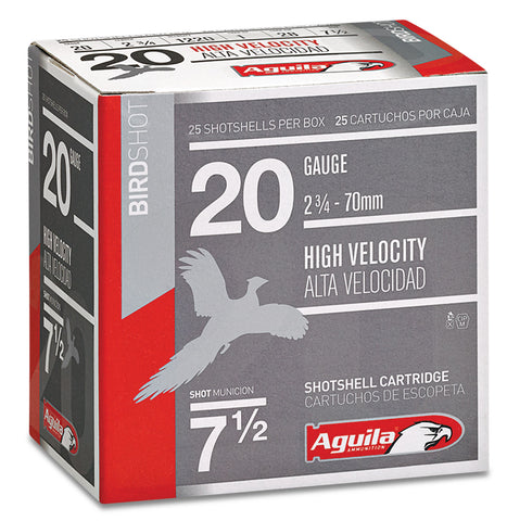 "Aguila 1CHB2007 Field  20 Gauge 2.75"" 1 oz 7.5 Shot 25 Bx/ 10 Cs"