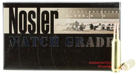 Nosler 60016 Match Grade 22 Nosler 77 GR Custom Competition 20 Bx/ 20 Cs