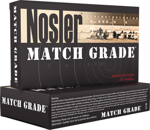Nosler 60029 Match Grade 30 Nosler 190 GR Custom Competition 20 Bx/ 10 Cs