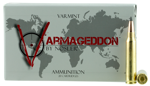 Nosler 65139 Varmageddon 223 Remington/5.56 NATO 53 GR Flat Base Tip 20 Bx/ 10 Cs
