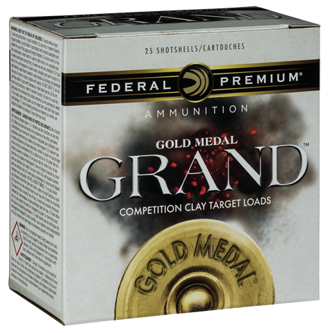 "Federal GMT1148 Gold Medal Grand Target 12 Gauge 2.75"" 1-1/8 oz 8 Shot 25 Bx/ 10"