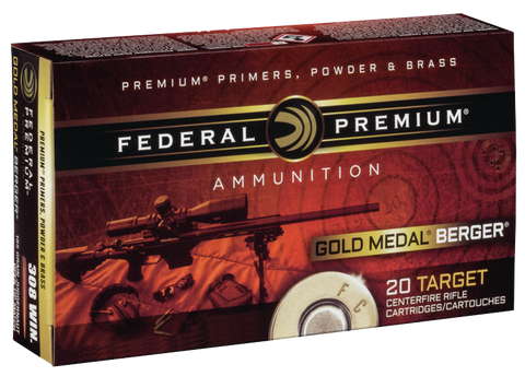 Federal GM223BH73 Gold Medal 223 Remington/5.56 NATO 69 GR Boat Tail Hollow Point 20 Bx/ 10 Cs