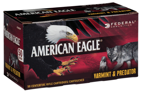 Federal AE6890VP American Eagle 6.8mm Remington SPC 90 GR JHP 50 Bx/ 5 Cs