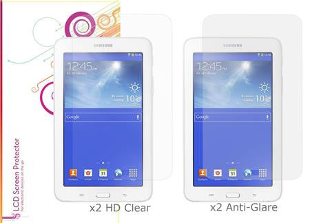 rooCASE - Samsung Galaxy Tab 3 Lite 7.0 4-Pack Screen Protector (x2 HD Clear, x2 Anti Glare)