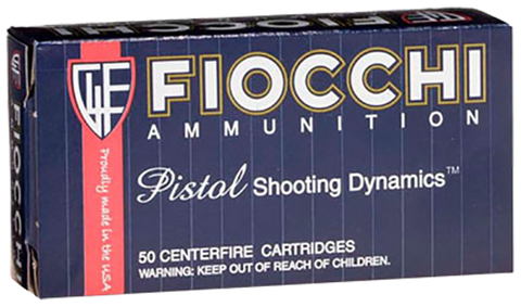 Fiocchi 9APB Shooting Dynamics 9mm 124 GR FMJ 50 Bx/ 20 Cs