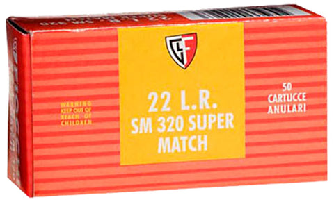 Fiocchi 22SM320 Super Match 22 Long Rifle (LR) 40 GR Round Nose 50 Bx/ 100 Cs