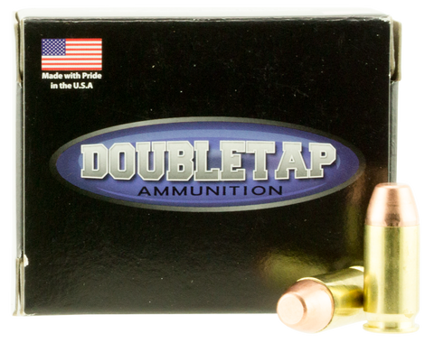 DoubleTap Ammunition 45A230FP DT Hunter 45 ACP 230 GR Full Metal Jacket Flat Point 20 Bx/ 50 Cs