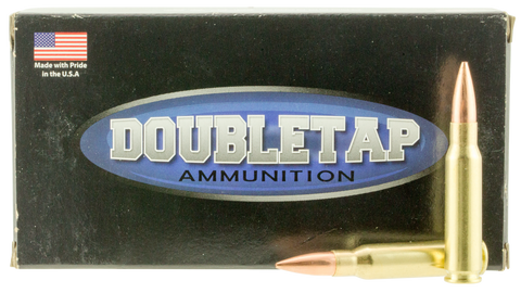 DoubleTap Ammunition 308W155HP DT Longrange 308 Winchester/7.62 NATO 155 GR Hollow Point Boat Tail 20 Bx/ 25 Cs