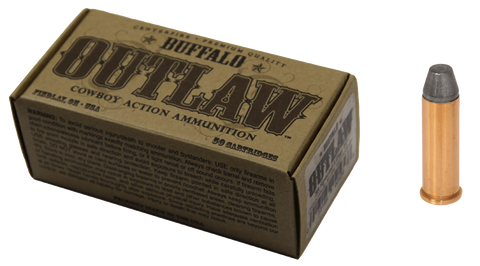 Buffalo Cartridge BCC00027 Outlaw 38 Special 125 GR Lead Round Nose Flat Point 50 Bx/ 20 Cs