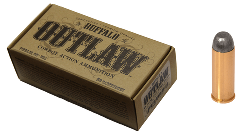 Buffalo Cartridge BCC00017 Outlaw 45 Colt (LC) 200 GR Lead Round Nose Flat Point 50 Bx/ 20 Cs