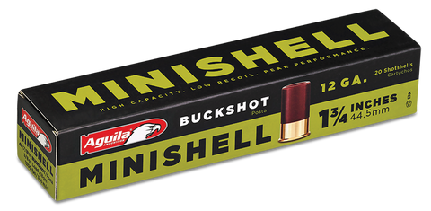 "Aguila 1CHB1288 Minishell 12 Gauge 1.75"" 5/8 oz 4B (7P)/1B (4P) Shot 20 Bx/25 Cs"
