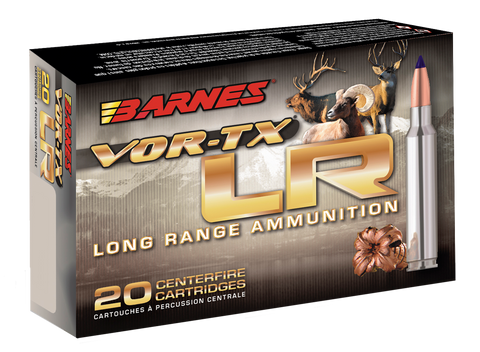 Barnes Bullets 29011 VOR-TX 300 Remington Ultra Magnum (RUM) 190 GR LRX Boat Tail 20 Bx/ 10 Cs