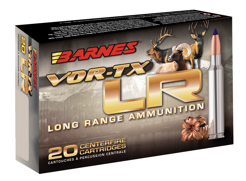 Barnes Bullets 29061 VOR-TX 338 Remington Ultra Magnum (RUM) 250 GR LRX Boat Tail 20 Bx/ 10 Cs