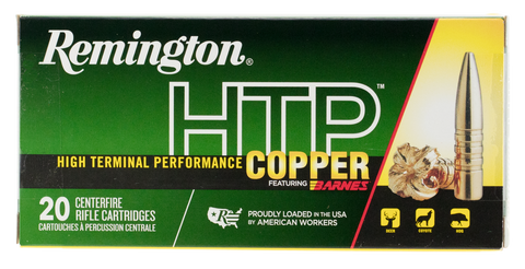 Remington Ammunition HTP300UM HTP Copper 300 Remington Ultra Magnum (RUM) 180 GR TSX Boat Tail 20 Bx/ 10 Cs