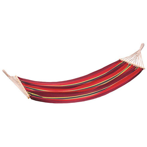 Stansport Bahamas Cotton Hammock-Single-Burgundy-78in X 37in