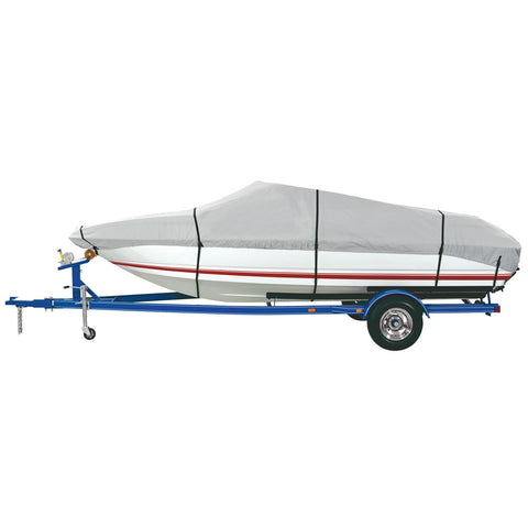 Dallas Manufacturing Co. Heavy Duty Polyester Boat Cover D 17'-19' V-Hull & Runabouts - Beam Width to 96""