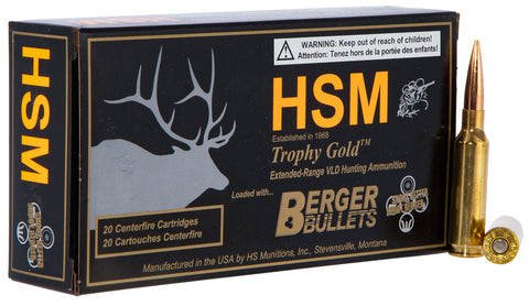 HSM 65CREEDMOOR1 Trophy Gold 6.5 Creedmoor 140 GR Hunting Very Low Drag 20 Bx/ 20 Cs