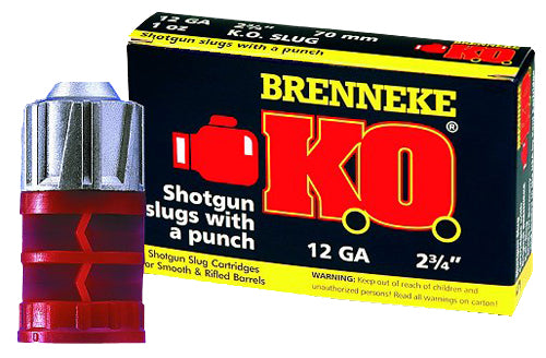 "Brenneke SL122KO K.O. 12 Gauge 2.75"" 1 oz Slug Shot 5 Bx/ 50 Cs"