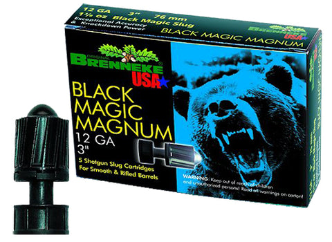 "Brenneke SL123BMM Black Magic Magnum 12 Ga 3"" 1-3/8oz Slug 5Box/40Case"