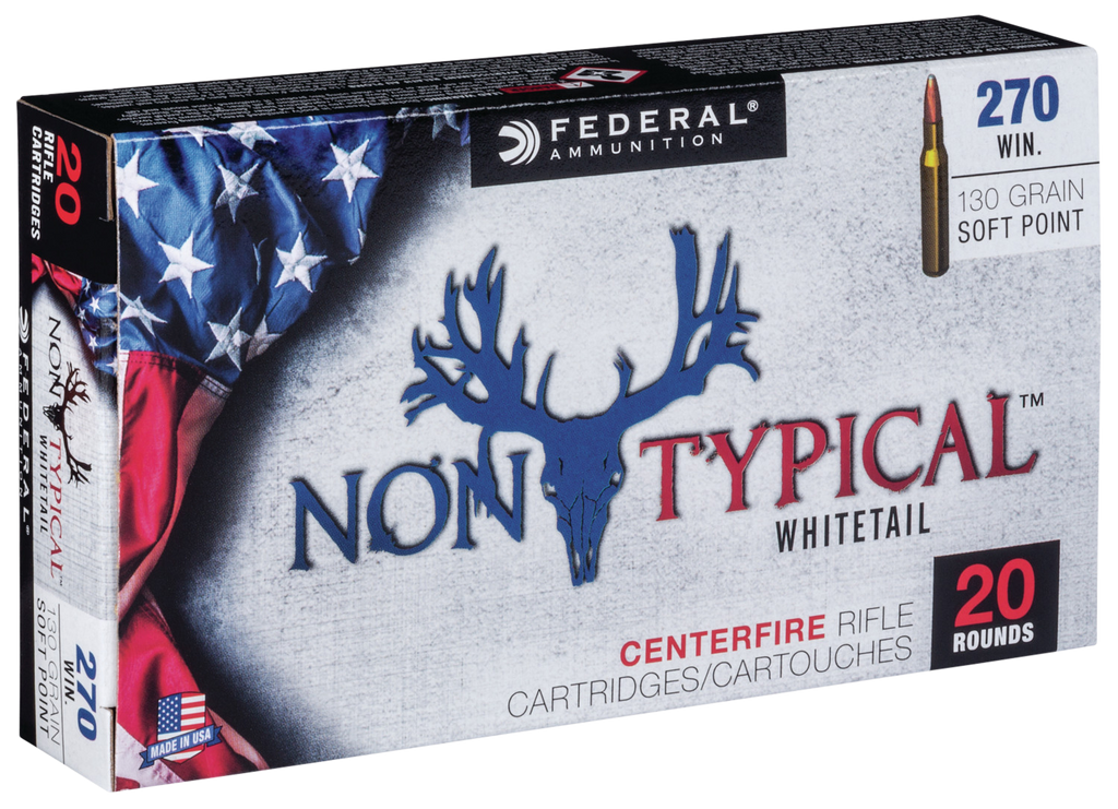 Federal 270DT130 Non-Typical 270 Winchester 130 GR Soft Point 20 Bx/ 10 Cs