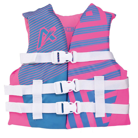Airhead Trend Girls Closed Side Life Vest-Youth-Pink