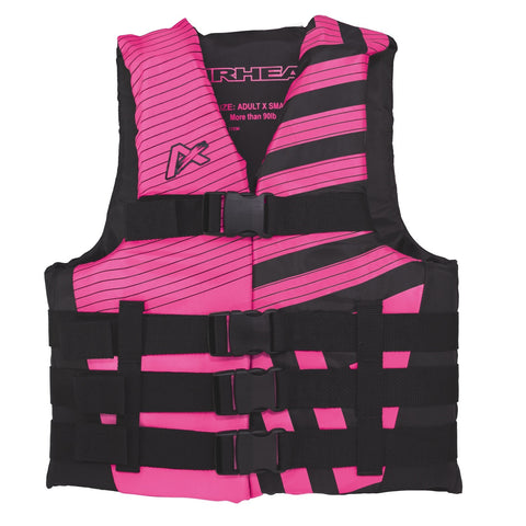 Airhead Trend Womens Closed Side Life Vest-2XL/3XL-Pink/Blk