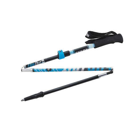 YC FlipOut Trekking Pole - Carbon-Blue/Gray