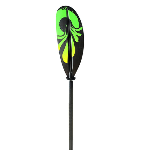 Propel 85-89in Smooth Pro Carbon Kayak Paddle-Green/Yellow