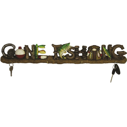 Rivers Edge 24in Gone Fishing Key Rack