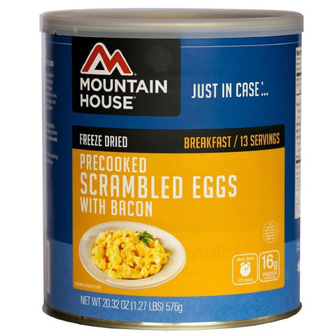 Mountain House Scrambled Eggs and Bacon #10 Can