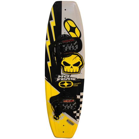 Nash No-Fear Concept 4-Point Wakeboard w/ Chaser Bindings