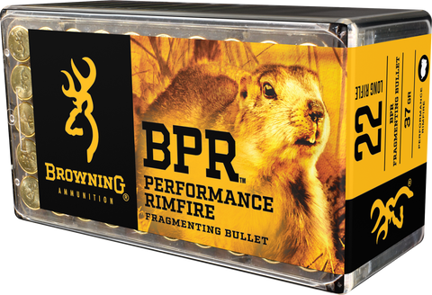 Browning Ammo B194122050 BPR Performance 22 Long Rifle 37 GR Fragmenting 1000rds - 1000 Rounds
